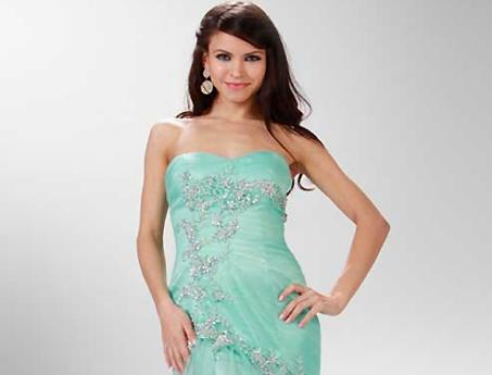 hellgrüne Abendkleider